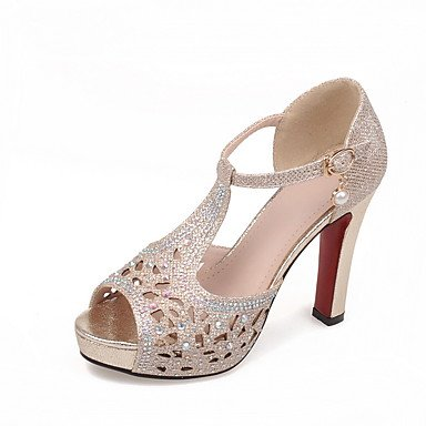 LvYuan Da donna-Sandali-Casual-Altro Club Shoes-Quadrato-Materiali personalizzati-Nero Argento Dorato Gold