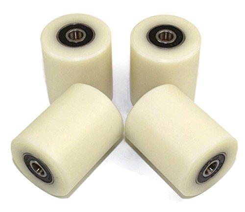 4Stück Nylon Polyamid Rollen (40–50–8) 40mm Durchmesser 50mm breit 8mm Bearing Präzise gefräßt