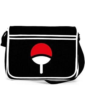 Shirtstreet24, Familie Uchiha, Retro Messenger Bag Kuriertasche Umhängetasche