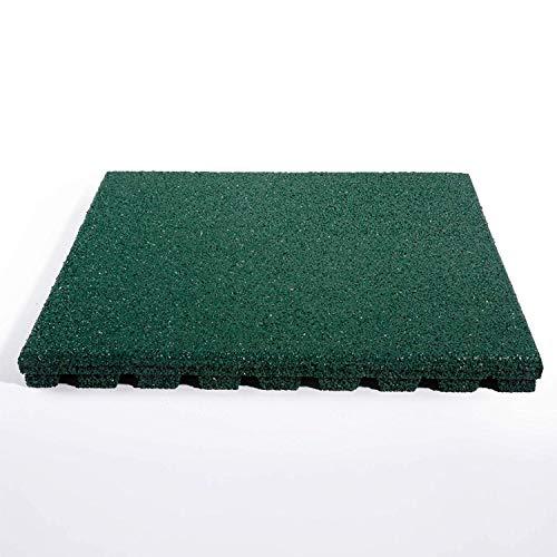 "fallschutzmatten spielplatz Granulatboden – Fallschutzmatten ""Play Protect Pro"" – 25 oder 43 Millimeter Stärke (43 mm, Grün)"