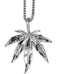 1e232f19c53b Gudeke El cannabis de marihuana deja las malas hierbas Collar con cadena de…