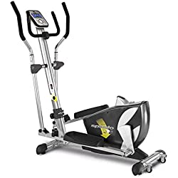 BH Fitness SPAZIO PROGRAM 10002361 bicicleta eliptica - magnetica - plegable - Sistema de inercia de 14 Kg -Zancada de 40 cm
