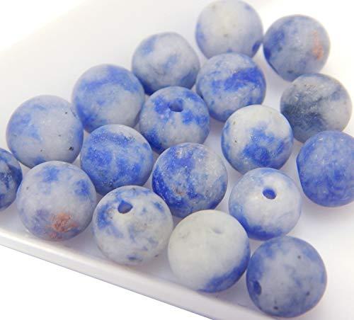 Perlin pietre naturali in sodalite e sodalite, 6 mm, colore blu opaco, 18 pezzi. sfera a forma, gioielli, collane, artigianato, artigianato, g817