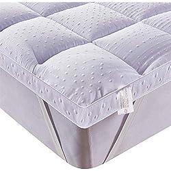 Bedecor Surmatelas,Couvre Matelas en Microfibre,Antidérapant,Convient également pour Les Lits Boxspring et Les Matelas à Eau-(120x190/200 cm)