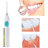 Jeerui - Cepillo de dientes para viajes, casa, con cable de chorro de agua dental y batería