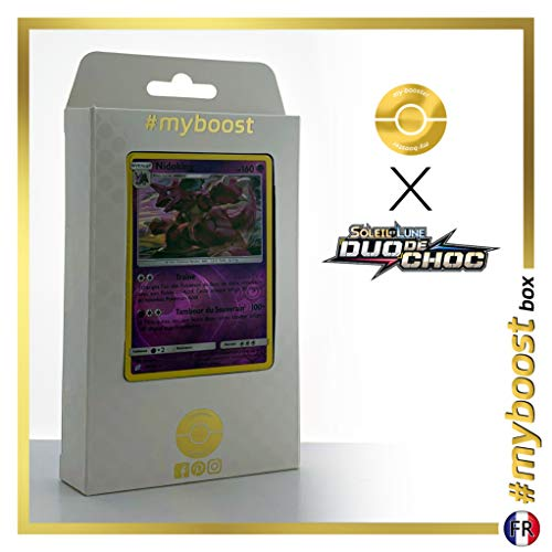 Nidoking 59/181 Holo Reverse - #myboost X Soleil & Lune 9 Duo de Choc - Box de 10 Cartas Pokémon Francés