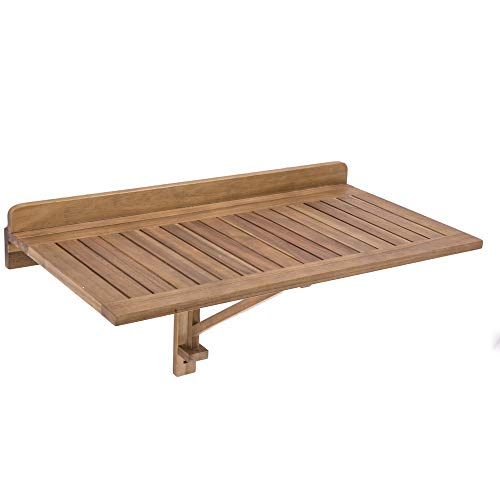 Ldk Garden Table de terrasse Pliante en Bois Naturel Marron