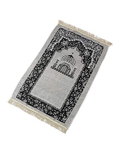 TAAMBAB Muslim Gebet Teppich Klassische Islam Mat mit Quaste Ramadan Eid Teppich - Islamische janamaz sajadah Namaz Türkisch Gebet Matte - Islam-teppich