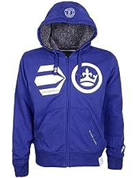 Crosshatch Mens Clarkwell Zip Through Sweatshirt Faux Fur Lined Designer Hoodie