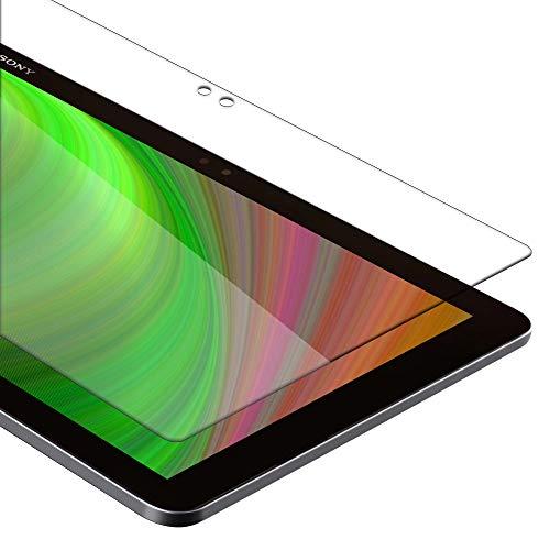 """Cadorabo Panzer Folie für Sony Xperia Tablet Z4 (10.1"""" Zoll) - Schutzfolie in KRISTALL KLAR - Gehärtetes (Tempered) Display-Schutzglas in 9H Härte mit 3D Touch Kompatibilität"""