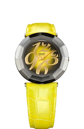 Jowissa Safira 24 Women's Quartz Watch with Yellow Dial Analogue Display and Yellow Leather Strap J1.044.L