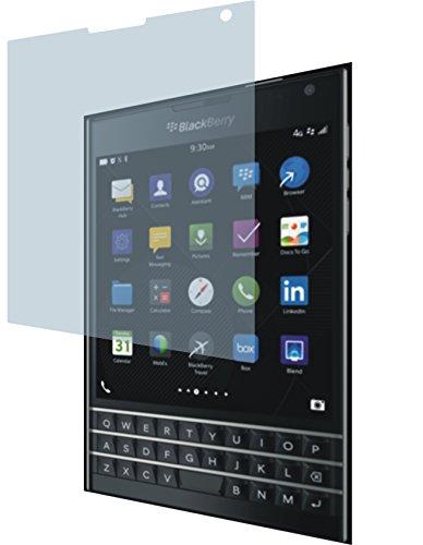 4ProTec BlackBerry Passport (2 Stück) Premium Displayschutzfolie Bildschirmschutzfolie ANTIREFLEX Schutzhülle Displayschutz Displayfolie Folie