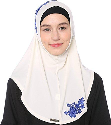 Ababalaya Spitze Applique Bereit Islamischen Hijab zu Tragen170*70 cm,Farbe3