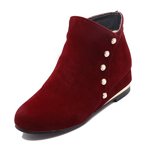 agoolar-womens-closed-round-toe-low-heels-frosted-low-top-solid-boots-red-34