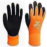 Wonder Grip Paire de gants à double épaisseur en latex résistant au froid et à...