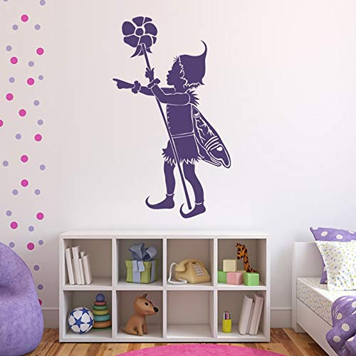 zhuziji Vinyl wandaufkleber kinderzimmer Fantasie wandaufkleber Schlafzimmer romantische wohnkultur wandbilder 84x136 cm
