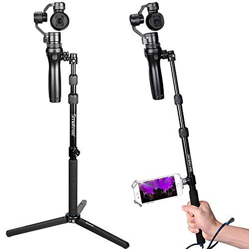 Smatree Ausziehbare Selfie Stick mit Stativ für DJI OSMO, OSMO Mobile, OSMO PRO/RAW, Teleskopstange mit Adapter für DJI-Handyhalter (DJI-Handyhalter erhaltet Nicht)