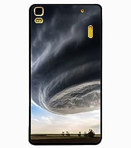 ColourCraft Hurricane Design Back Case Cover for LENOVO K3 NOTE