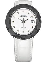 Jowissa J1.182.XL - Reloj analógico de cuarzo para mujer con correa de piel, color blanco