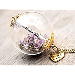 XXL Namenskette Gold Glück Kette Geschenk Wunschfüllung Löwenzahn Blüten