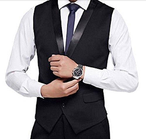 Belario-Mens-Black-Designer-Slim-Fit-Sleeveless-Tuxedo-Waistcoat