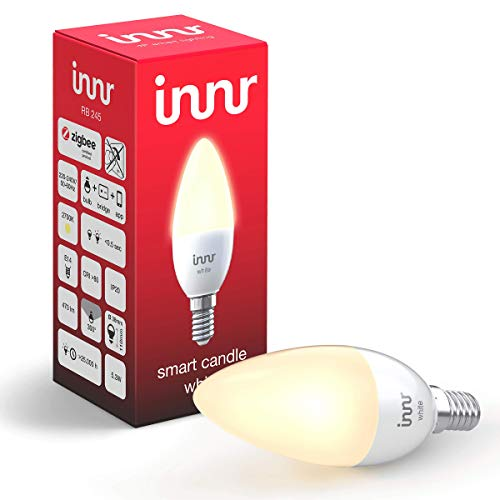 Innr Smart Candle Bulb White E14, Works with Philips Hue* / Alexa/Google Assistant (Hub Required), RB 245-1