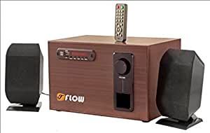 Wooden Flow 2.1 Home Theatre Bluetooth Speaker System Laptop TV USB MMC Remote FM
