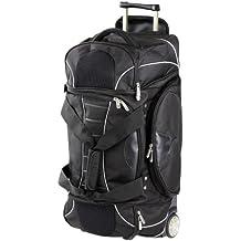 Dermata Bolsa de viaje a 2 ruedas Bolsa de viaje con ruedas 67 cm negro