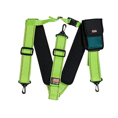 HW GLOBAL Electrician Maintenance Carpenter Technicians Work Organizer Framers Rig Multipurpose Chest Strap Tool Belt Pad Suspenders Phone Pouch Bag #40-1 Global Phone