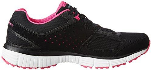 Skechers (SKEES) Synergy - Trend Setter, baskets sportives femme Noir (BKHP)