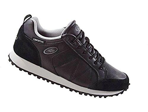 Brütting Bruetting Federico Sneaker per il tempo libero in vera pelle impermeabile nero grigio Nero/Grigio