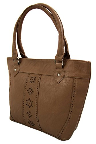 Paris Fashion, Borsa tote donna Marrone Argile