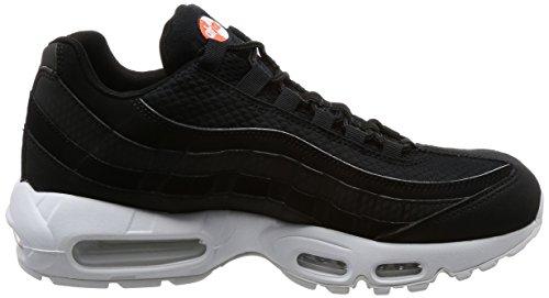 Nike Air Max 95 Premium Se, Chaussures de Gymnastique Homme Noir (Black/black/white/team Orange)