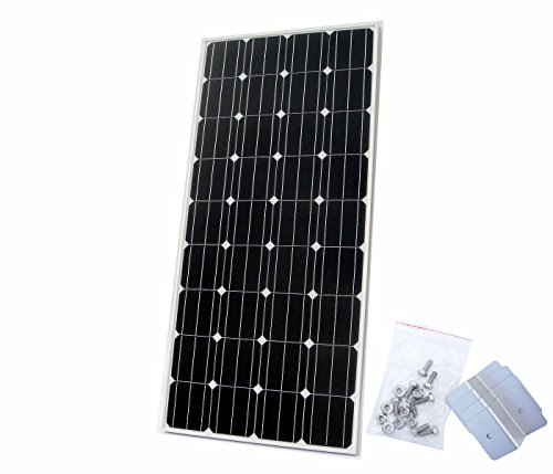 ECO-WORTHY 160W Solarpanel Monokristallin Solarzelle - 160 Watt Solarmodul 12V Photovoltaik Panel W/ Z Mounting Bracket Off Grid