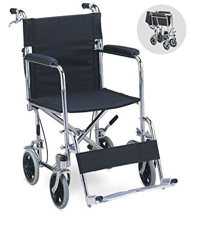 Chaithanya Orthopaedics FC Premium Lightweight Steel Transport Wheelchair