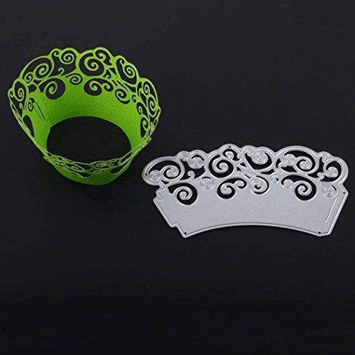 onen, SHOBDW Halloween Neue Schneeflocke Metall Stanzformen Schablonen DIY Scrapbooking Album Papier Karte (C) (Hausgemachte Halloween Geschenk)