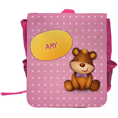 Kinder-Rucksack mit Namen Amy und schönem Bären-Motiv für Mädchen - Amys Bären
