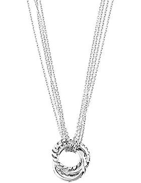 Guess Damen Halskette Metall Silber UBN11125