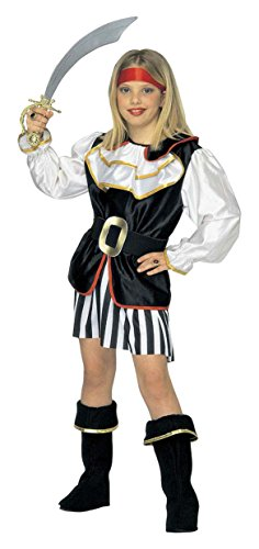 Widmann 1798 - piratessa, nero/bianco, 140 cm, 8-10 anni