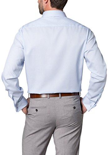 Eterna long sleeve Shirt MODERN FIT Twill striped azzurro chiaro