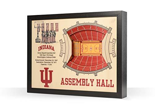YouTheFan NCAA 25-Layer StadiumViews 3D-Wandbild, Herren,Unisex-Erwachsene, Damen, Team Color, 25.5