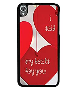 PrintVisa Designer Back Case Cover for HTC Desire 820 :: HTC Desire 820 Dual Sim :: HTC Desire 820S Dual Sim :: HTC Desire 820Q Dual Sim :: HTC Desire 820G+ Dual Sim (The Longer You wait Inspirational quote Best Quote Designer Case Lovely Message Cell Cover Creative quote Smartphone Cover Classic cool )