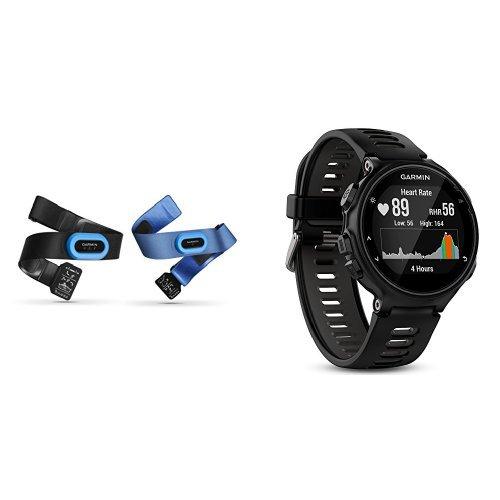 Garmin - Pack Forerunner 735XT noire et grise + Ceintures Cardio-Fréquencemètre HRM-Tri/HRM - Swim