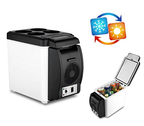 203002 frigo portatile per auto 2 in 1 caldo e freddo 6 litri alimentazione 12 v. media wave store ®