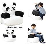 QuWei Canapé Lit Pour Enfantsn DIY Fauteuil Pouf Panda Dessin Animé Bébés Confortable Mini Sofa de Chambre Ou la Housse