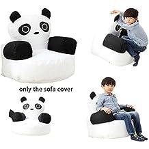 QuWei Mini sofá cama para niño –Instalación propia –Cómodo puff o funda de panda con dibujo animado multicolor panda Talla:Pouf Complet