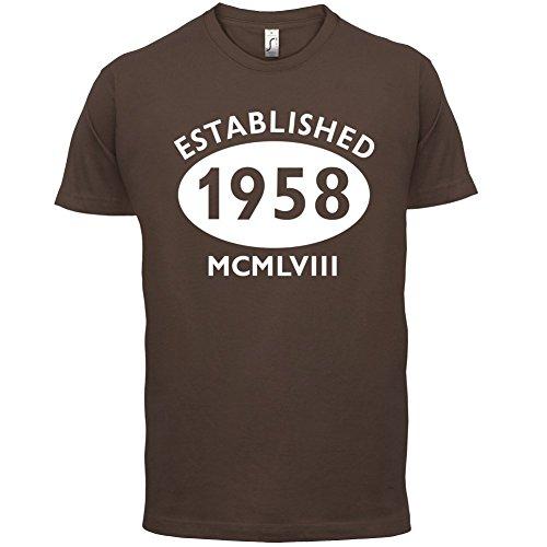 Gegründet 1958 Römische Ziffern - 59 Geburtstag - Herren T-Shirt - 13 Farben Schokobraun