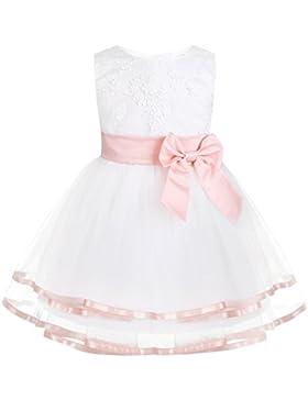 iixpin Babybekleidung Baby-Mädchen Prinzessin Kleid Festzug Taufkleid Hochzeit Partykleid Mädchen Tüll Kleidung...