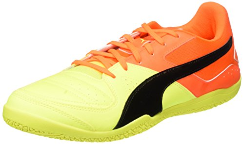Puma Gavetto Sala, Chaussures de Football Homme Jaune - Gelb (safety yellow-puma Black-SHOCKING Orange 14)