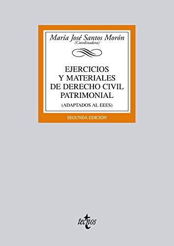 Ejercicios y materiales de Derecho Civil Patrimonial: (adaptados al EEES) (Derecho - Biblioteca Universitaria De Editorial Tecnos)